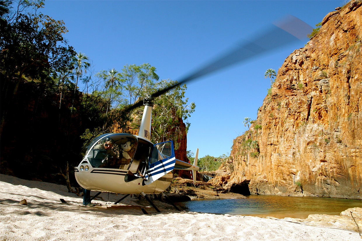 Helicopter tours at Bullo River Station