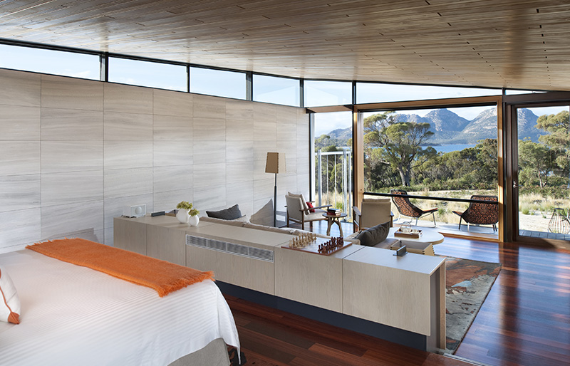 View from the suites at Saffire Freycinet