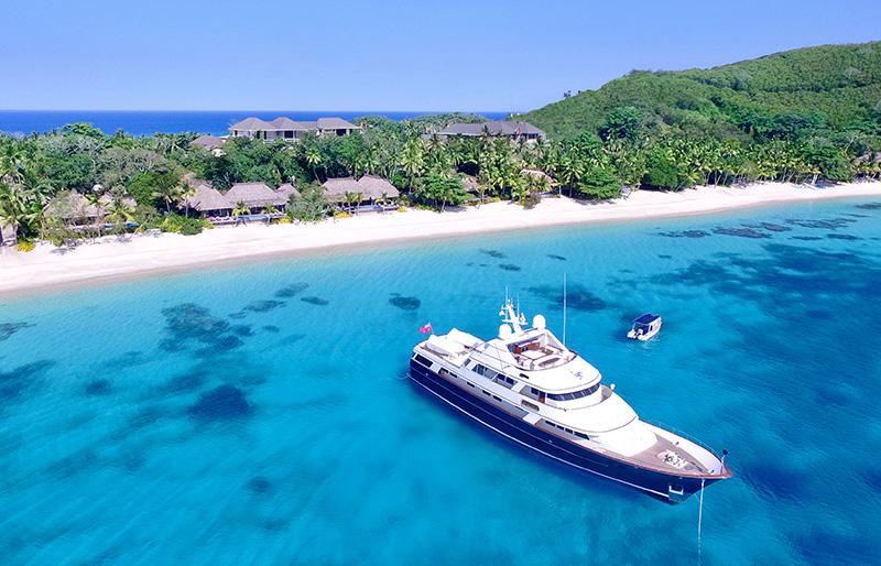Kokomo Island Resort, private boat tour