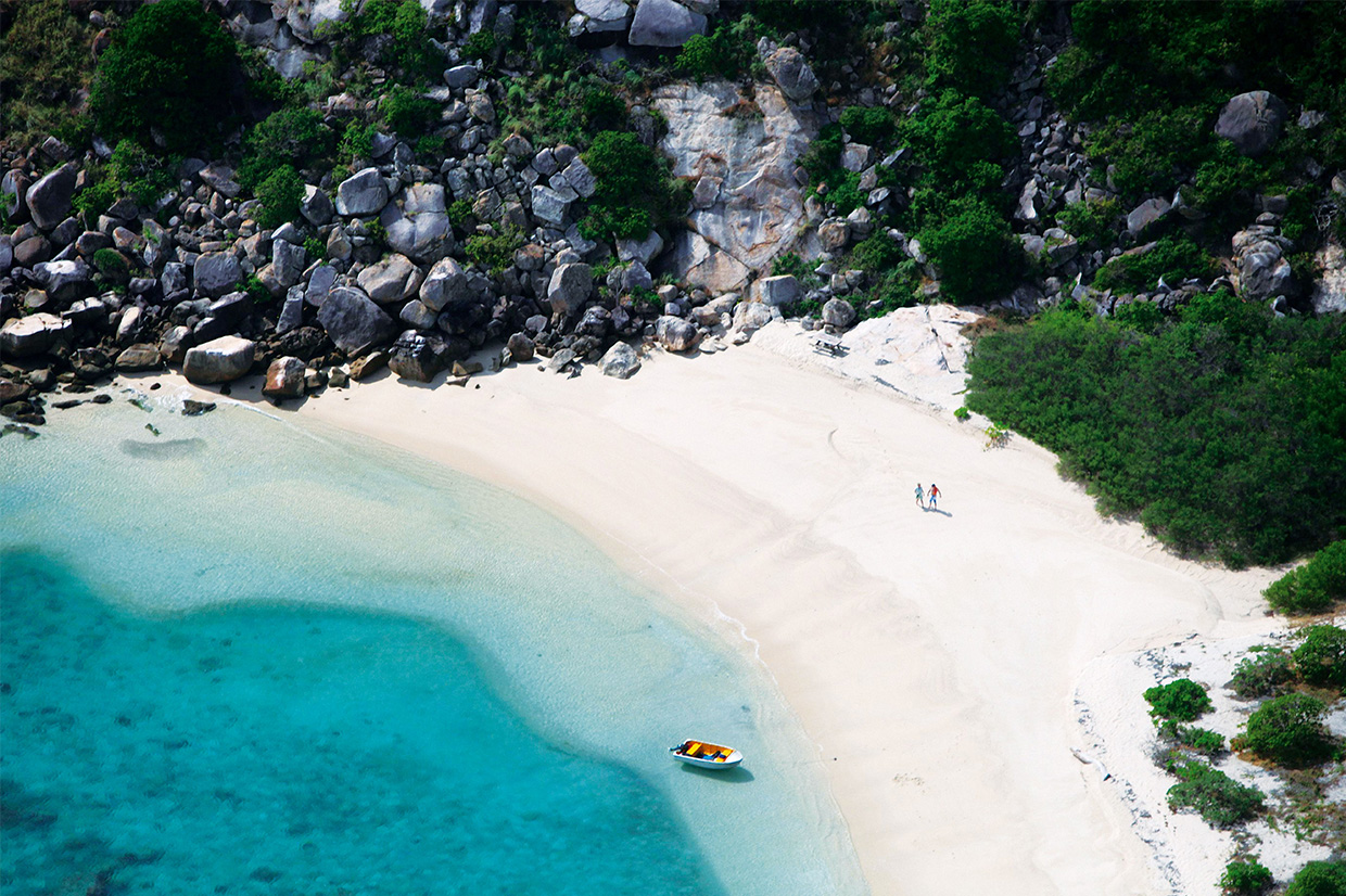Lizard Island escape to a private bay