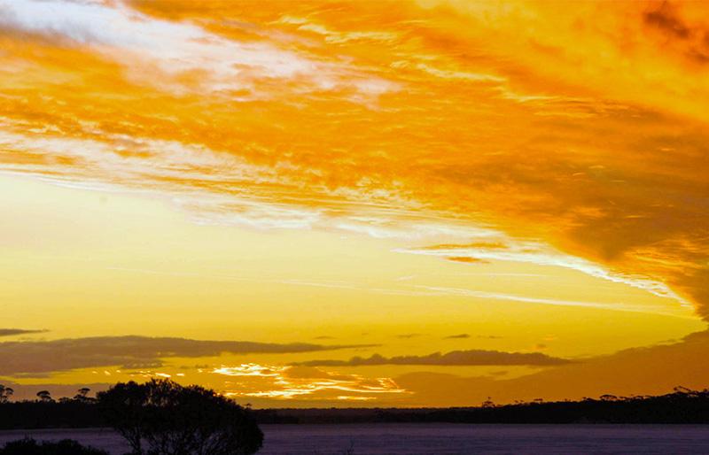 Beautiful sunset travel australia