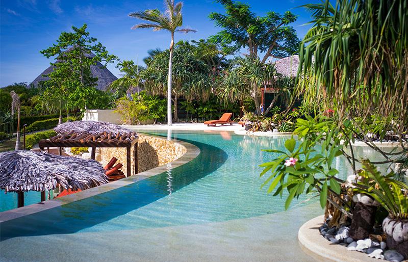 Infinity pool at luxury hotel Vanuatu